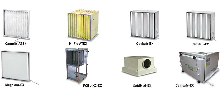 Soluciones ATEX de filtrado de aire